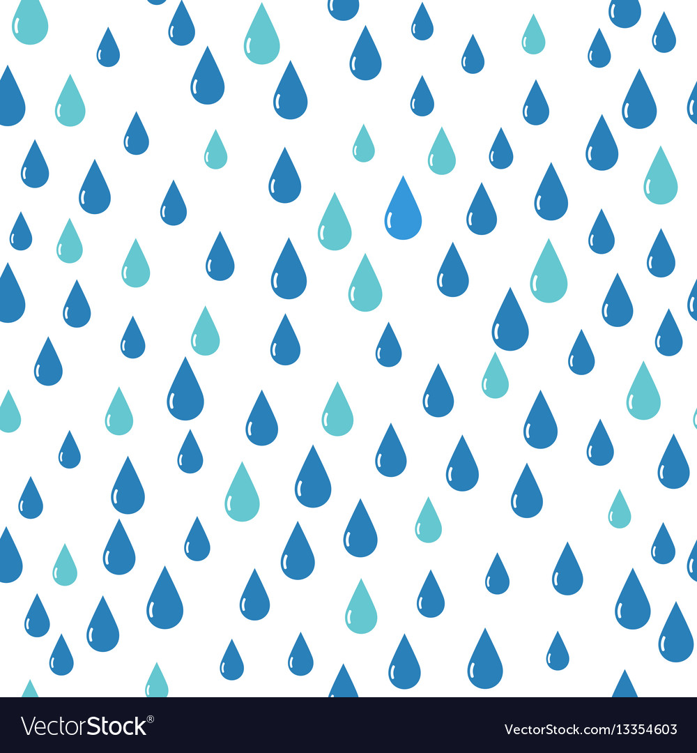 Water drops pattern blue color