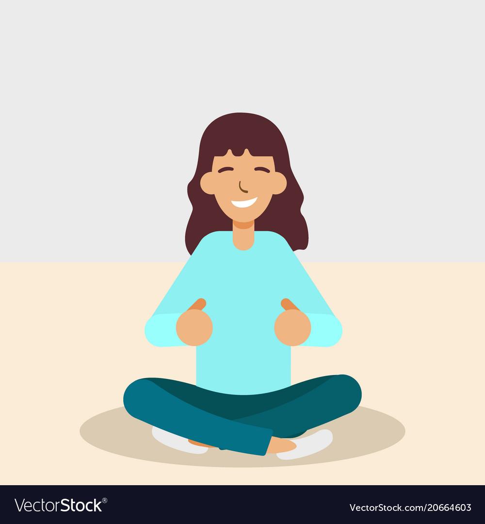 Yoga woman meditating and doing yoga