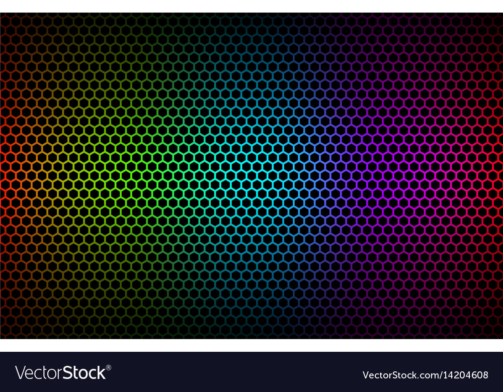 Abstract colorful geometric hexagons background