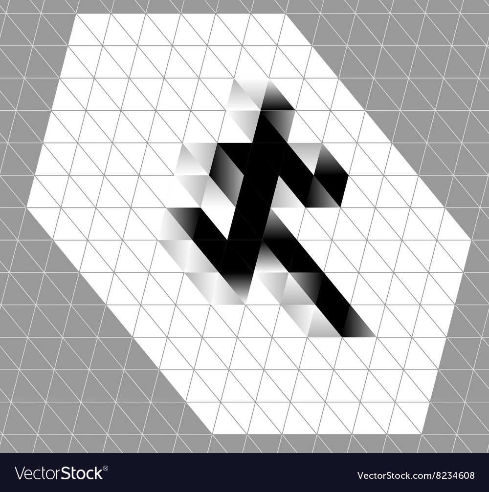 Abstract running man symbol Winner runner logo vector image