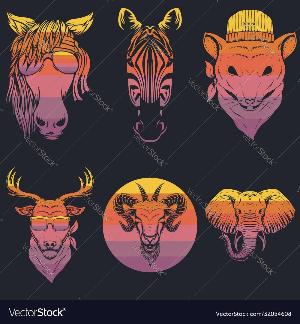 Animal head retro