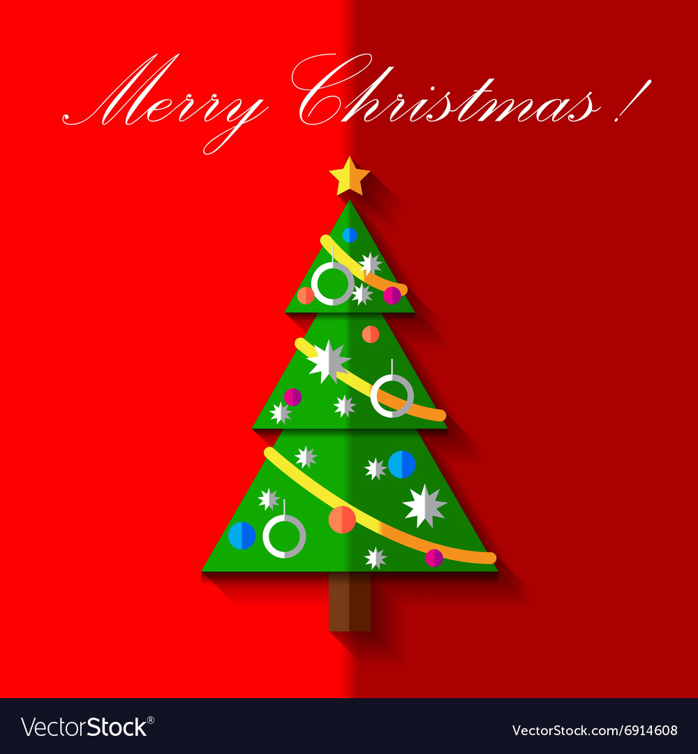 Christmas tree with toys card EPS 10