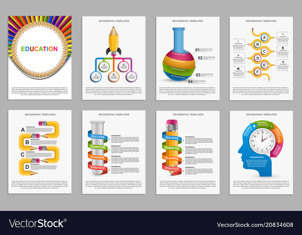 Collection infographics for education