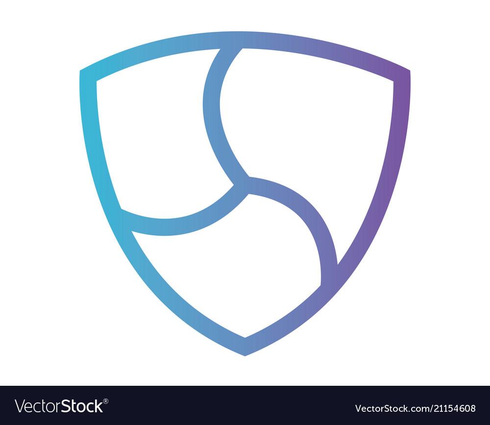 Cryptocurrency nem symbol isolated icon