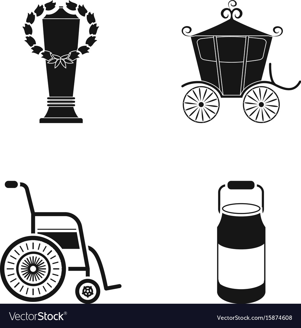 Cup coach and other web icon in black style vector image