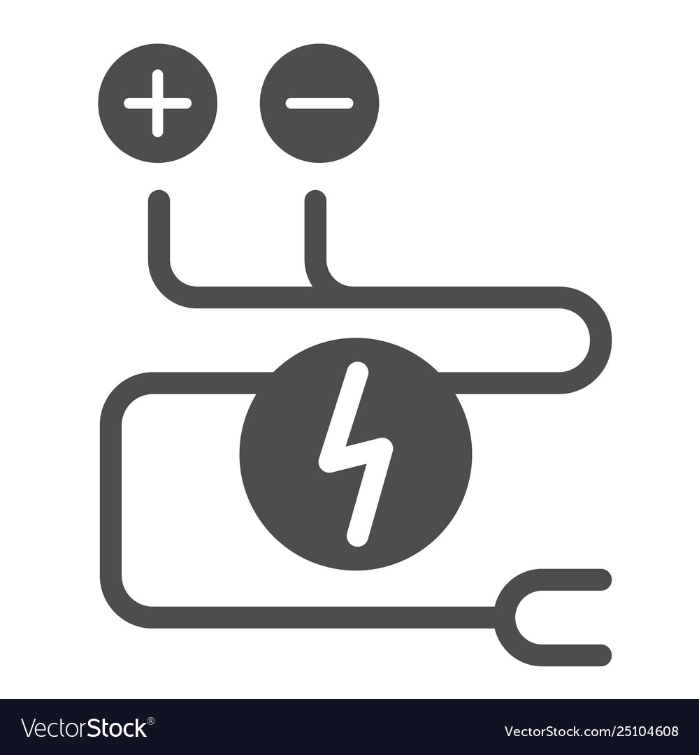 Electrical Wiring Solid Icon Cable Royalty Free Vector Image