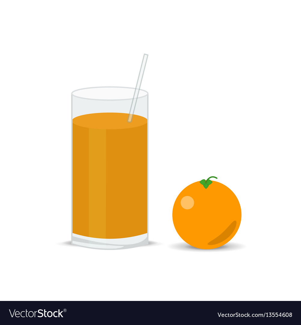 Fresh orange and a glass of juice squeezed