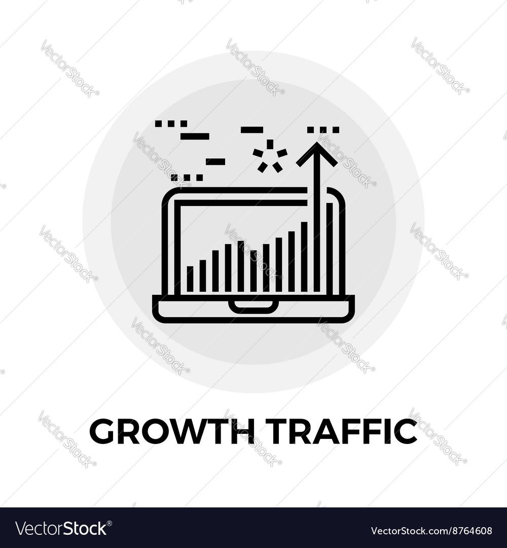 Growth Traffic Line Icon