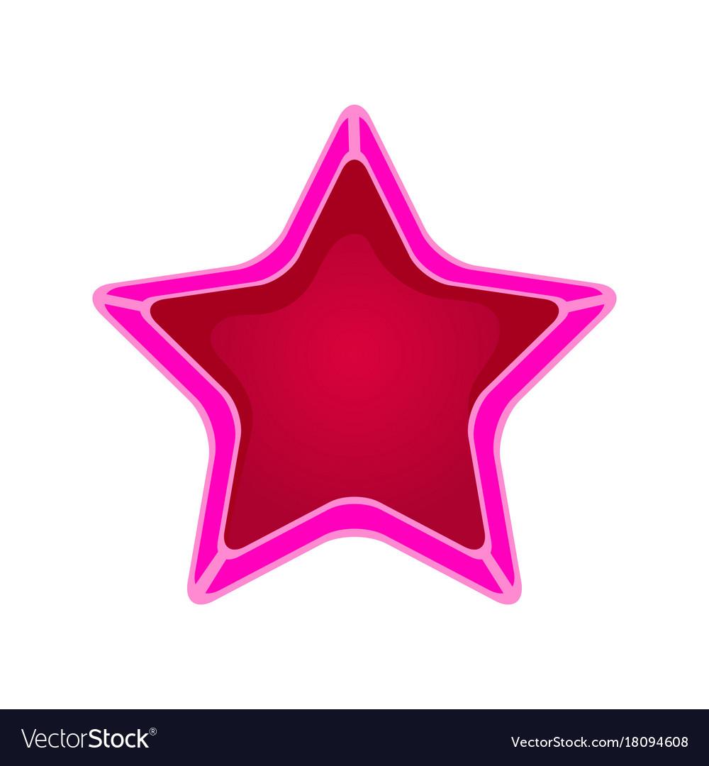 Pink cartoon star