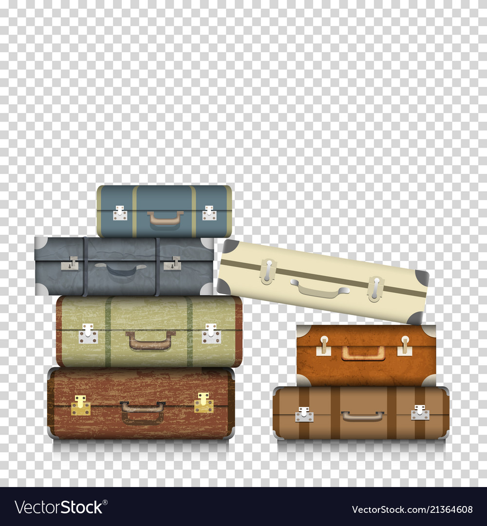 Suitcases on transparent background