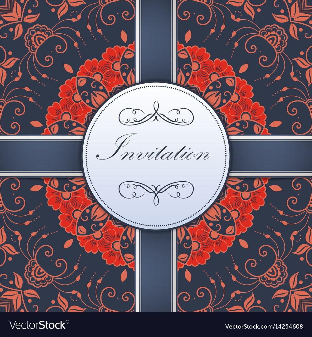 Wedding invitation and announcement Royalty Free Vector