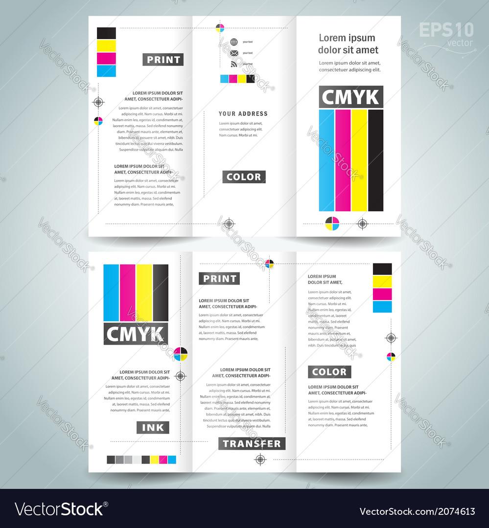 Cmyk polygraphy - brocure design template