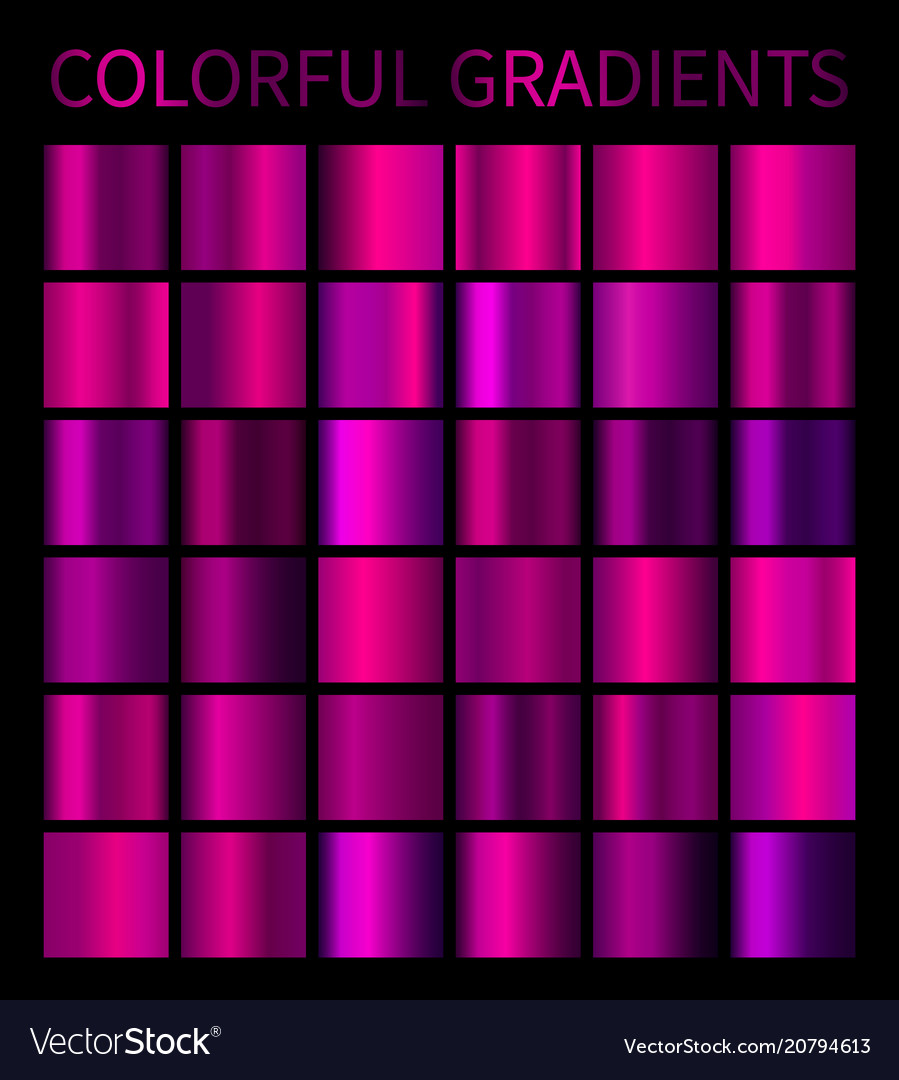 Colorful gradients set
