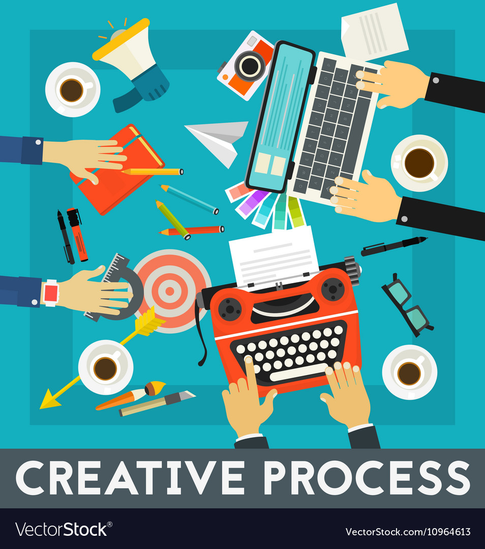 Creative Process Concept Banner Royalty Free Vector Image