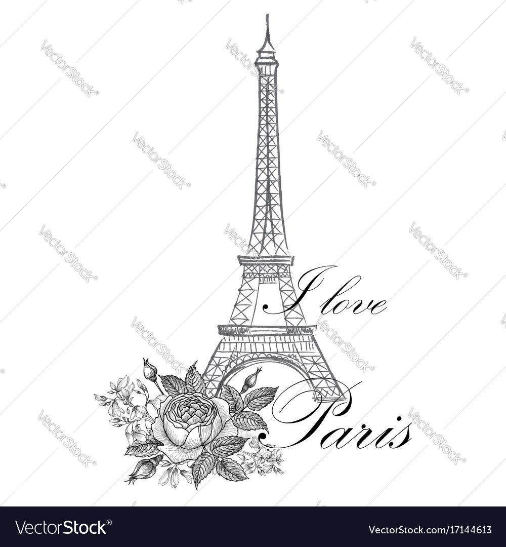 Paris sign french famous landmark eiffel tower