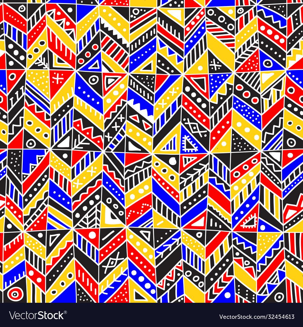 Seamless pattern with ethnic tribal boho trendy