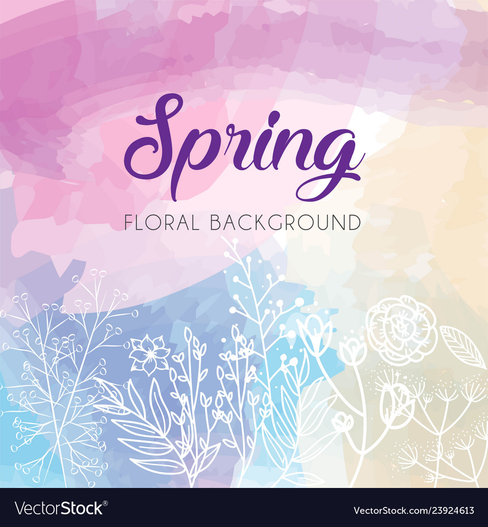 Spring floral template