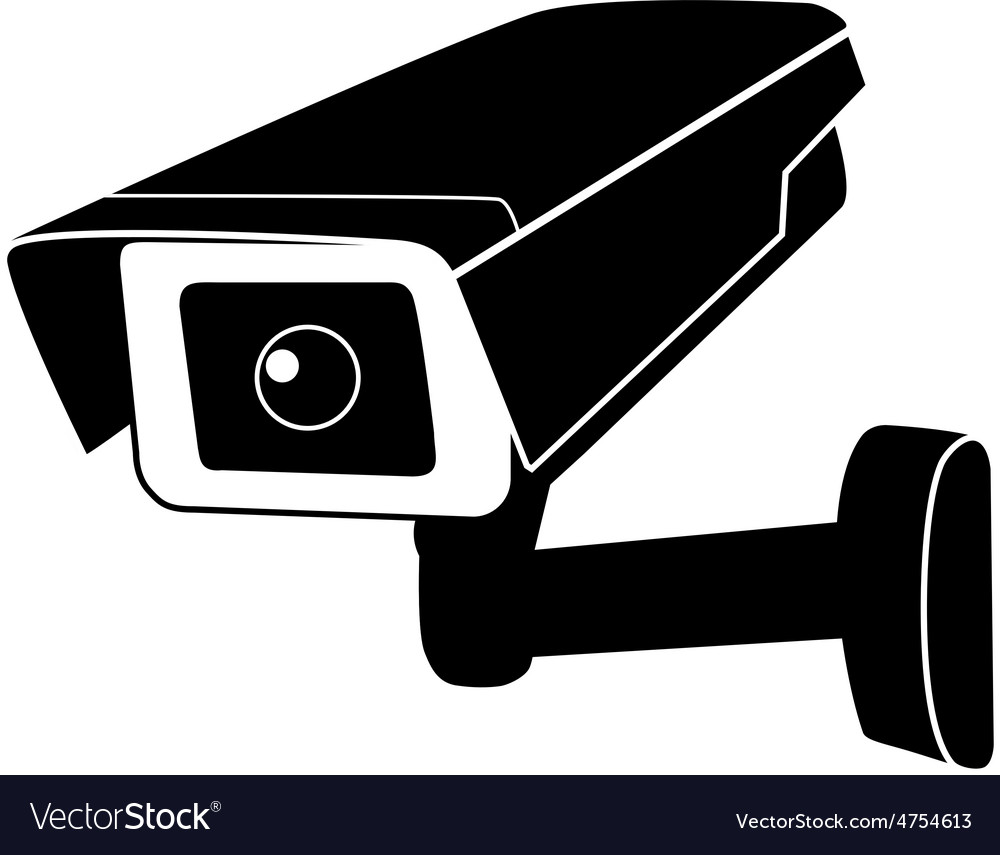 surveillance camera royalty free vector image vectorstock free camera clipart black and white free camera clip art for photography logo