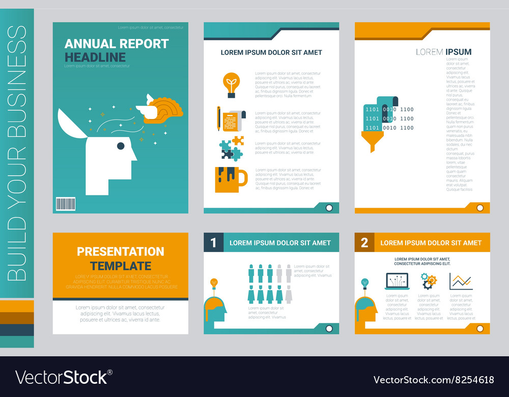 annual report book cover and presentation template, Report Presentation Template, Powerpoint templates