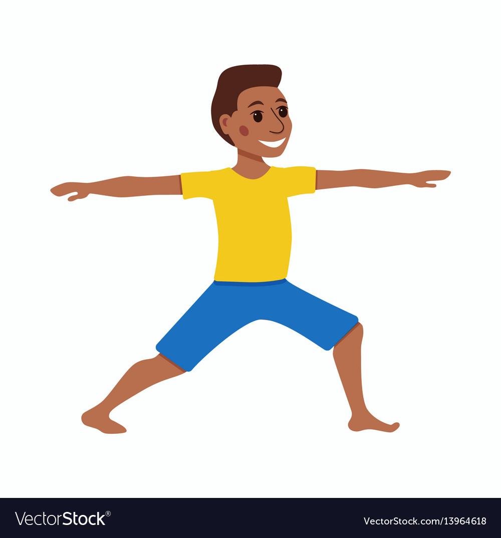 Cute cartoon gymnastics for children