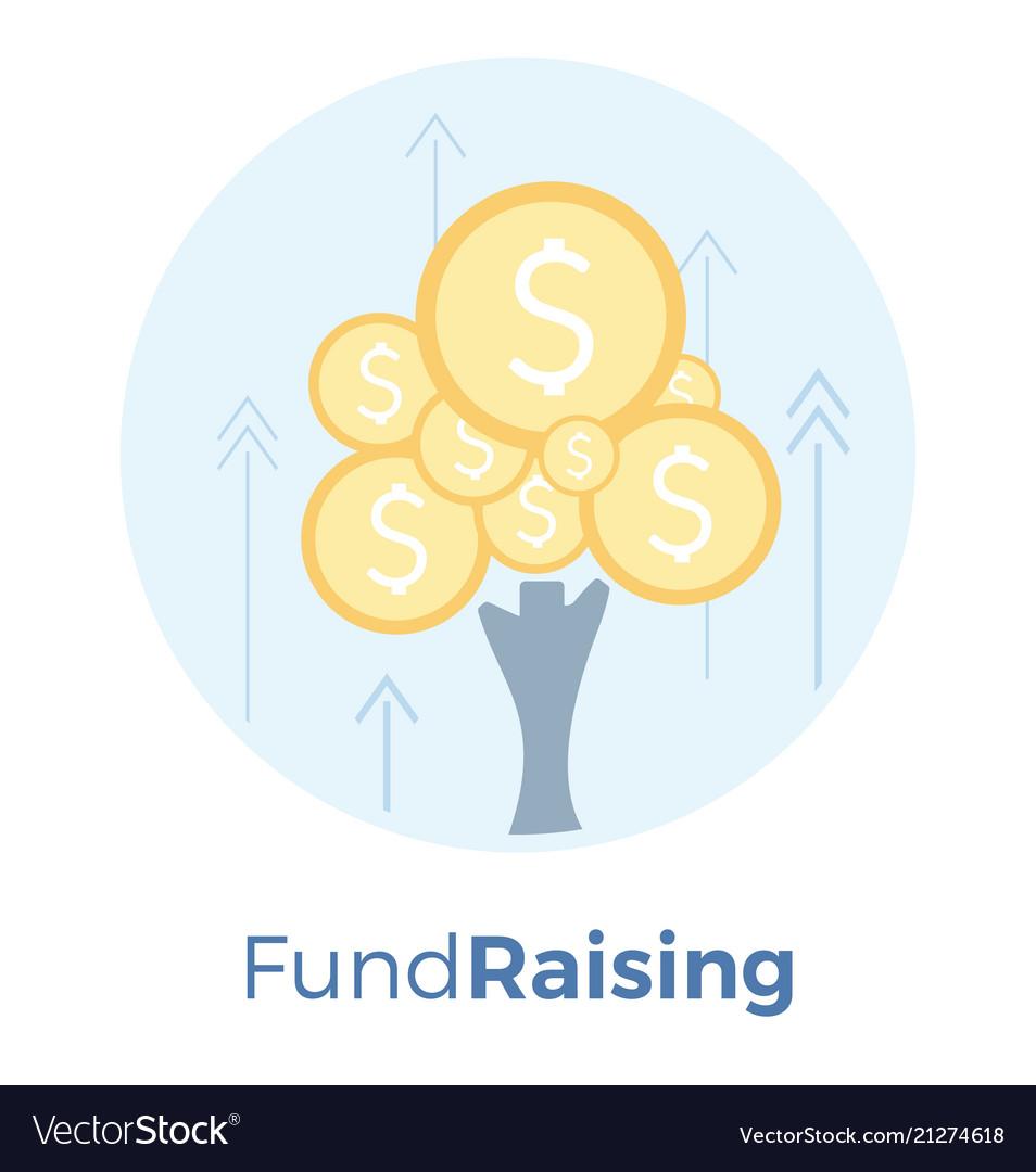 Fundraising flat money tree