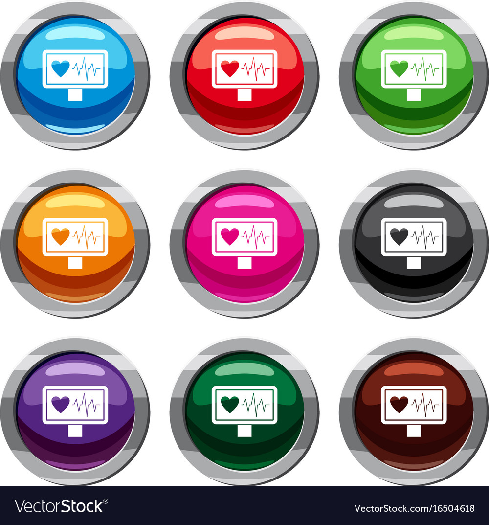 Heartbeat set 9 collection vector image