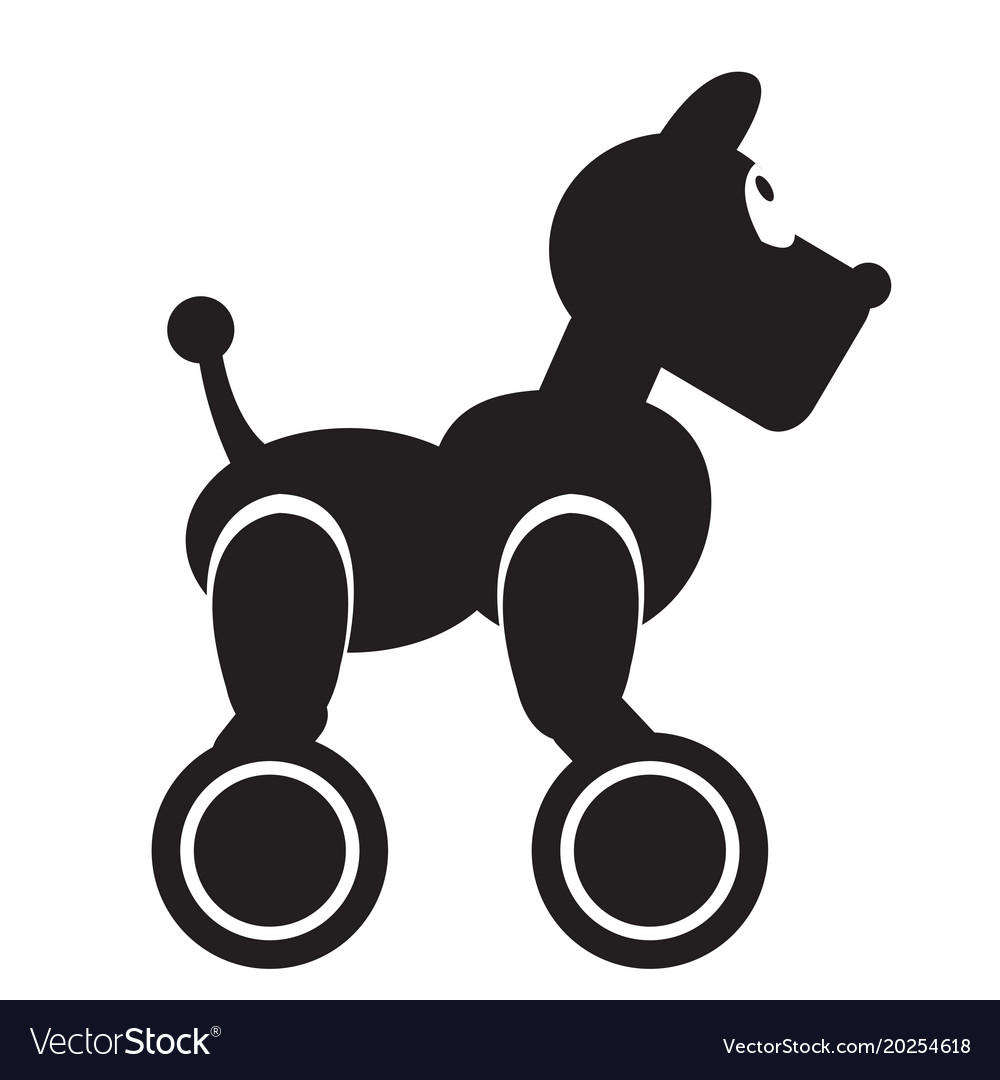 isolated robot dog toy icon royalty free vector image