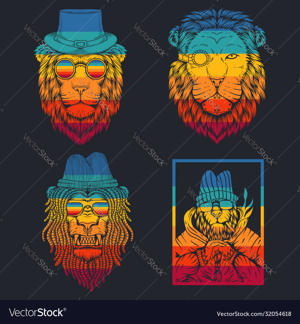 Lion retro