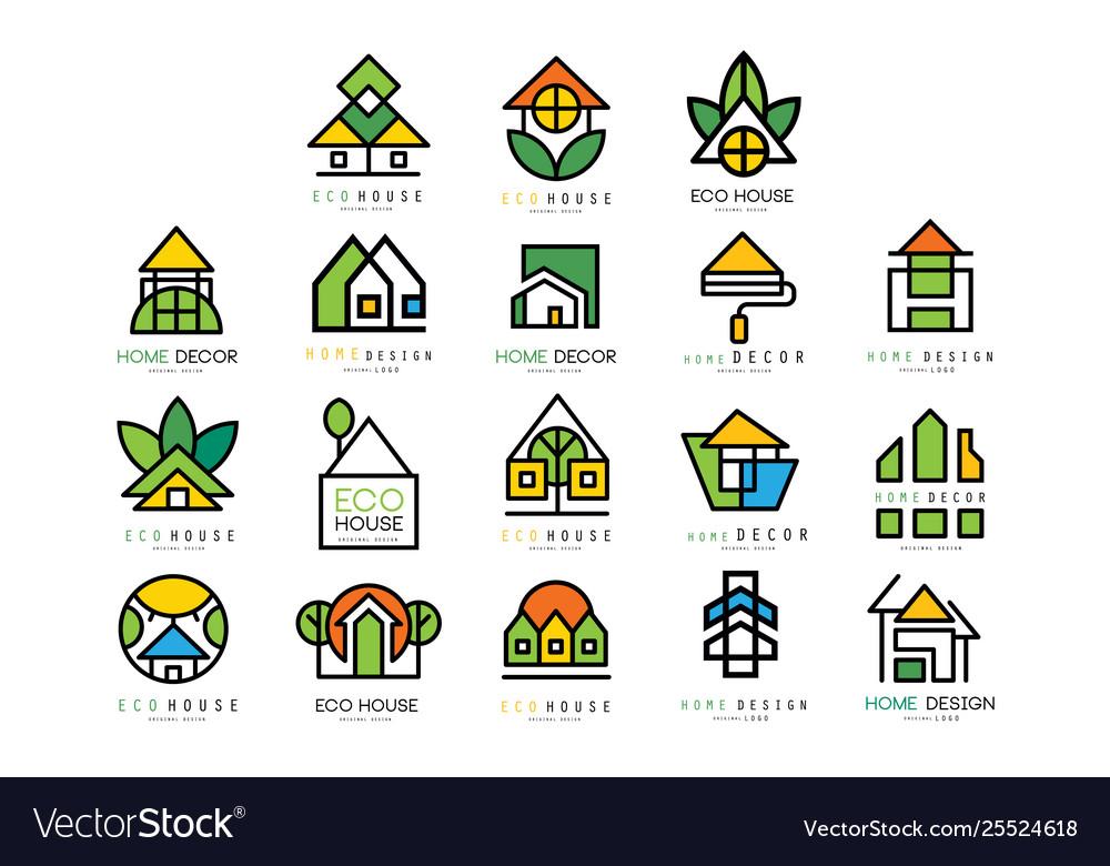 Set original logos with eco friendly