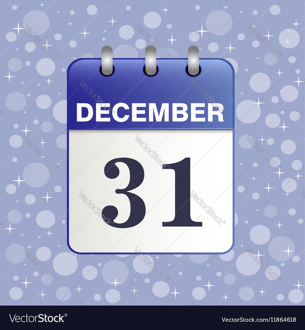 Sheet Desktop calendar in blue color