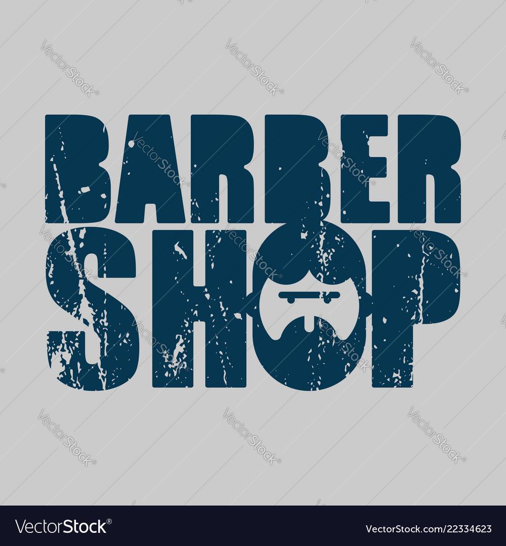 Barber shop logo emblem of hairdresser for men