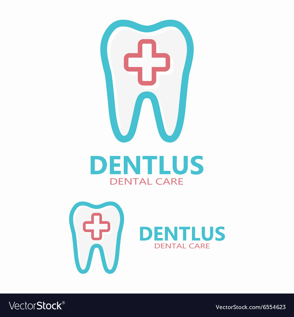 Dental logo design template vector image