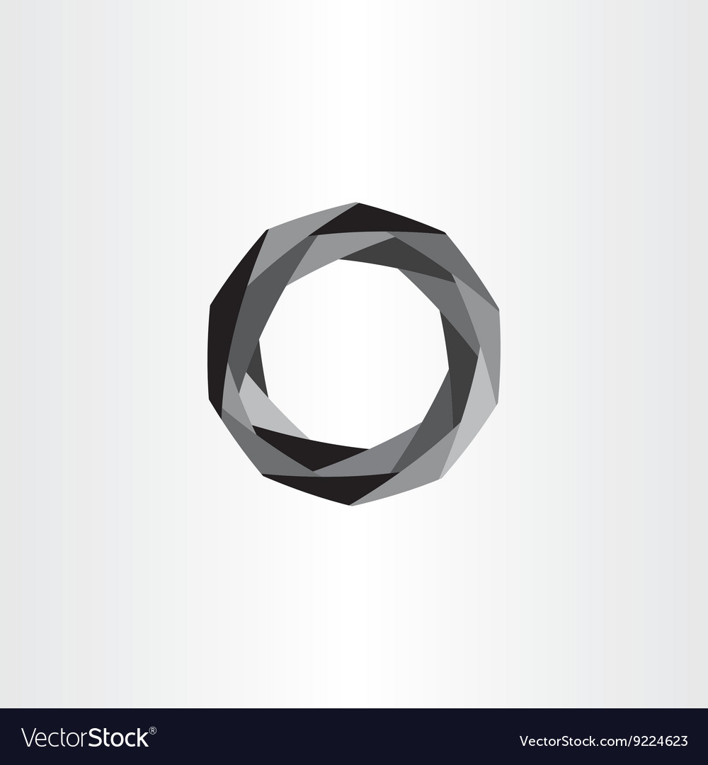 Geometric black polygon circle abstract background