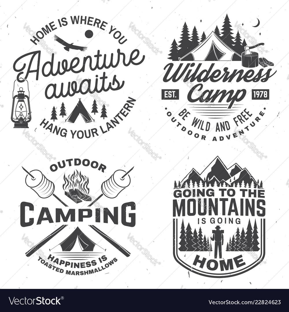 Happy camper concept for shirt or logo