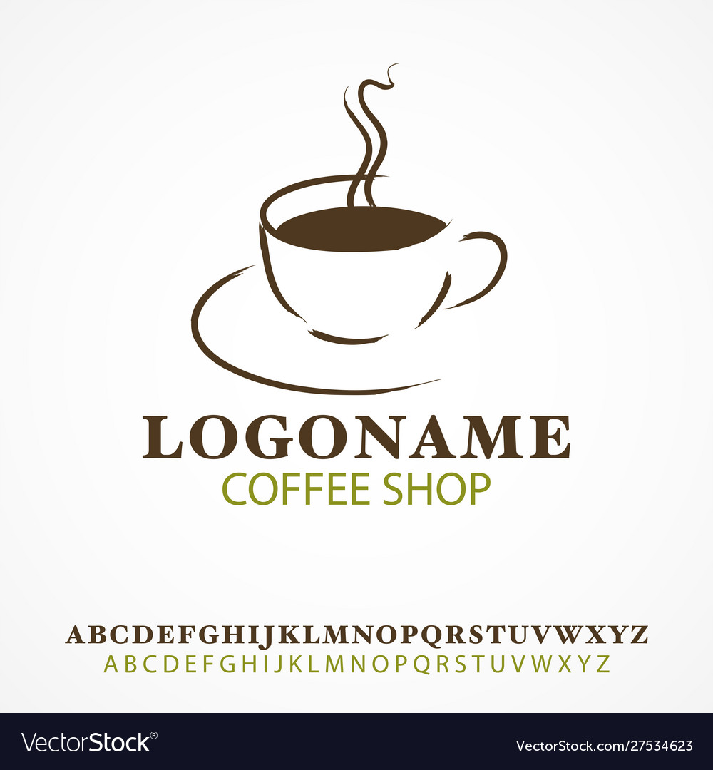 Simple graphic and icon cup coffee vector