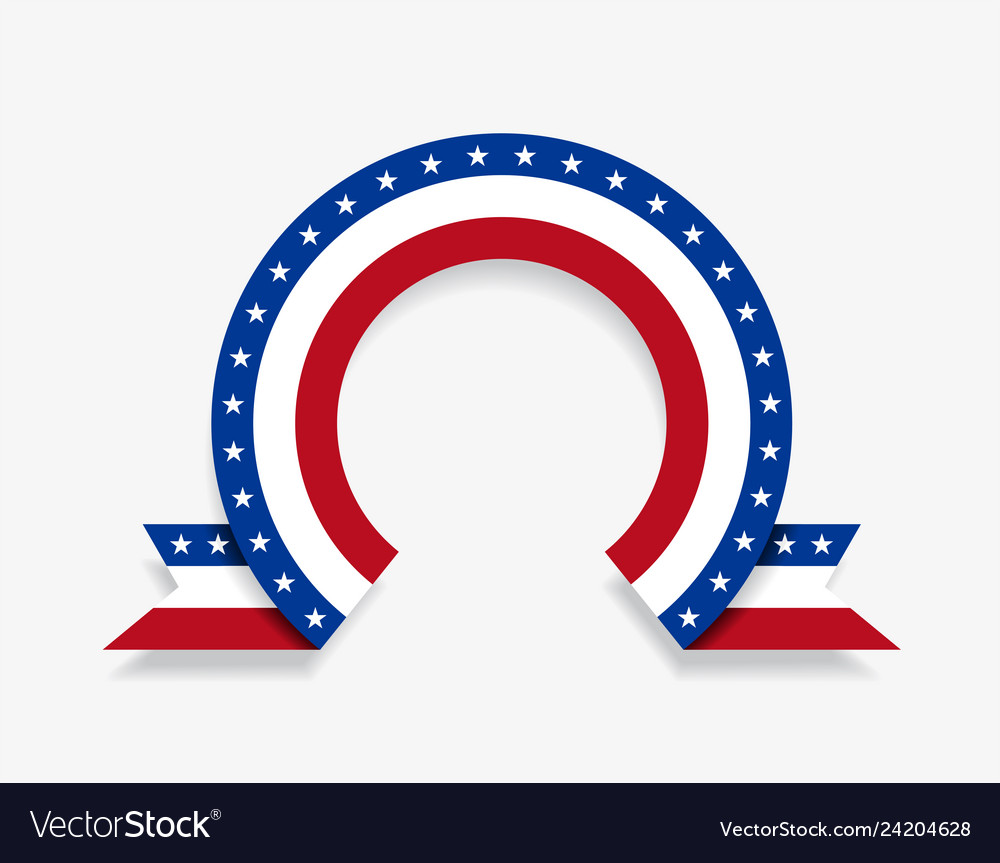 American flag rounded abstract background