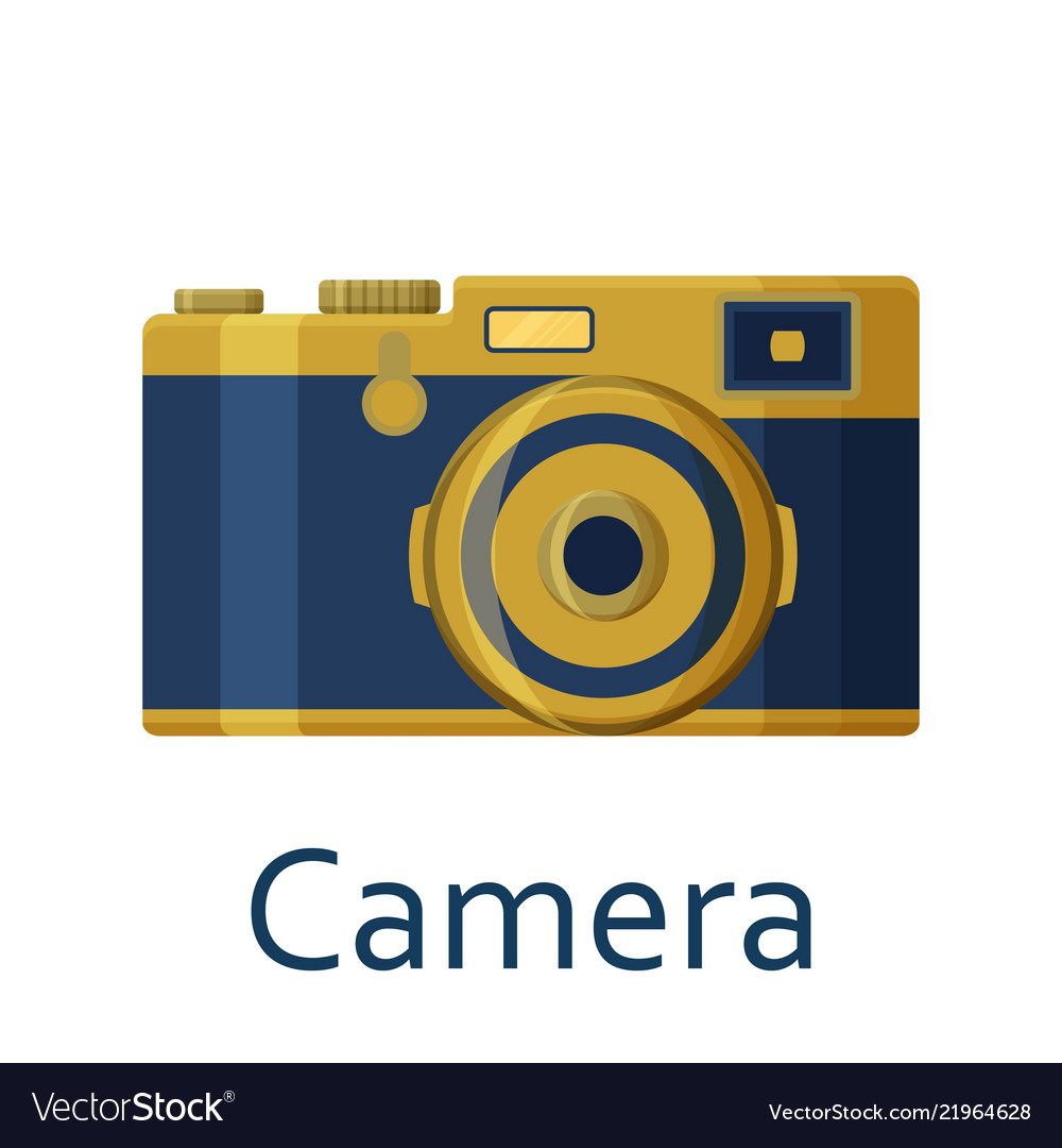 Camera isolated on the white background