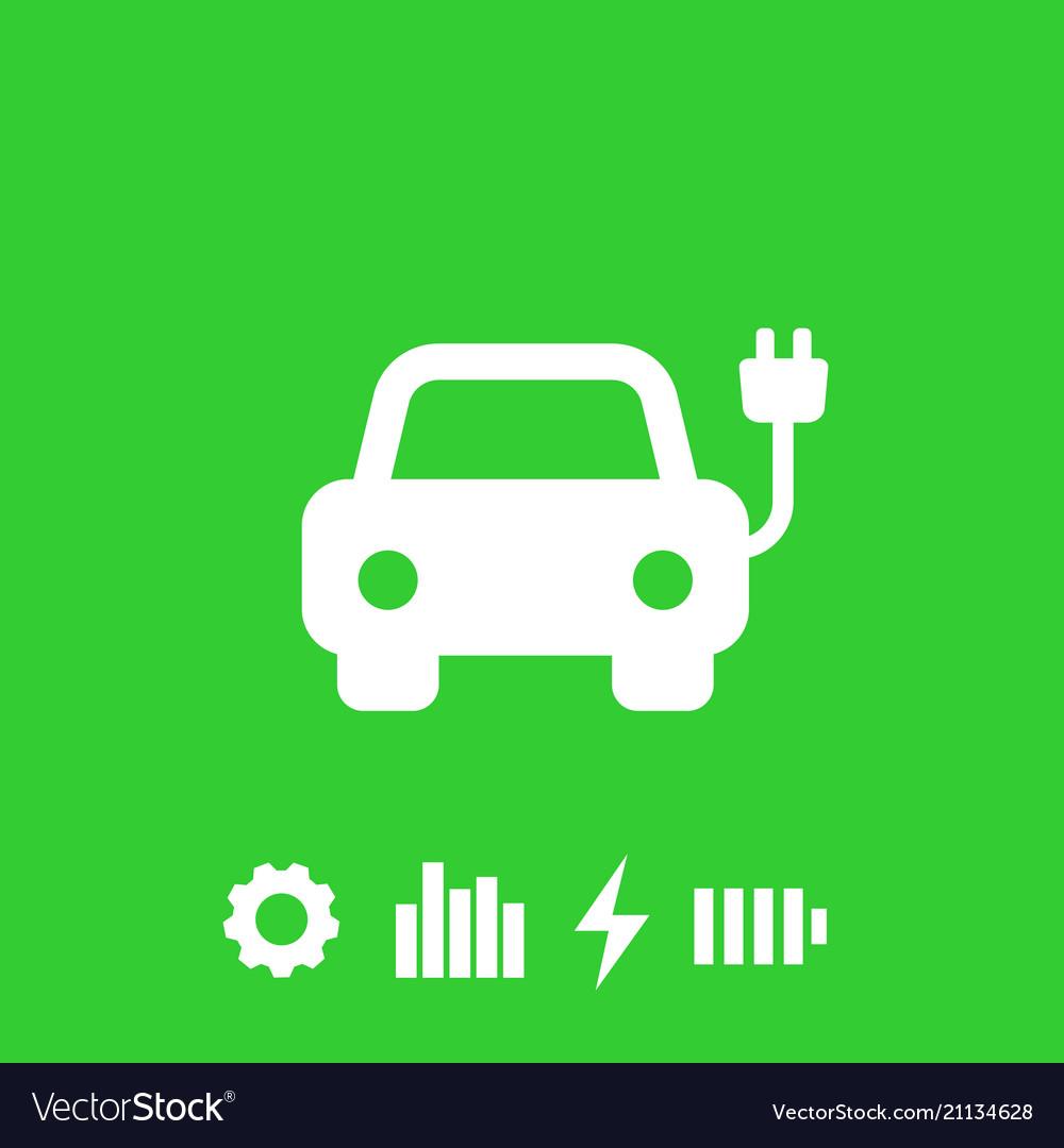 Electric Car Ev Icon Royalty Free Vector Image