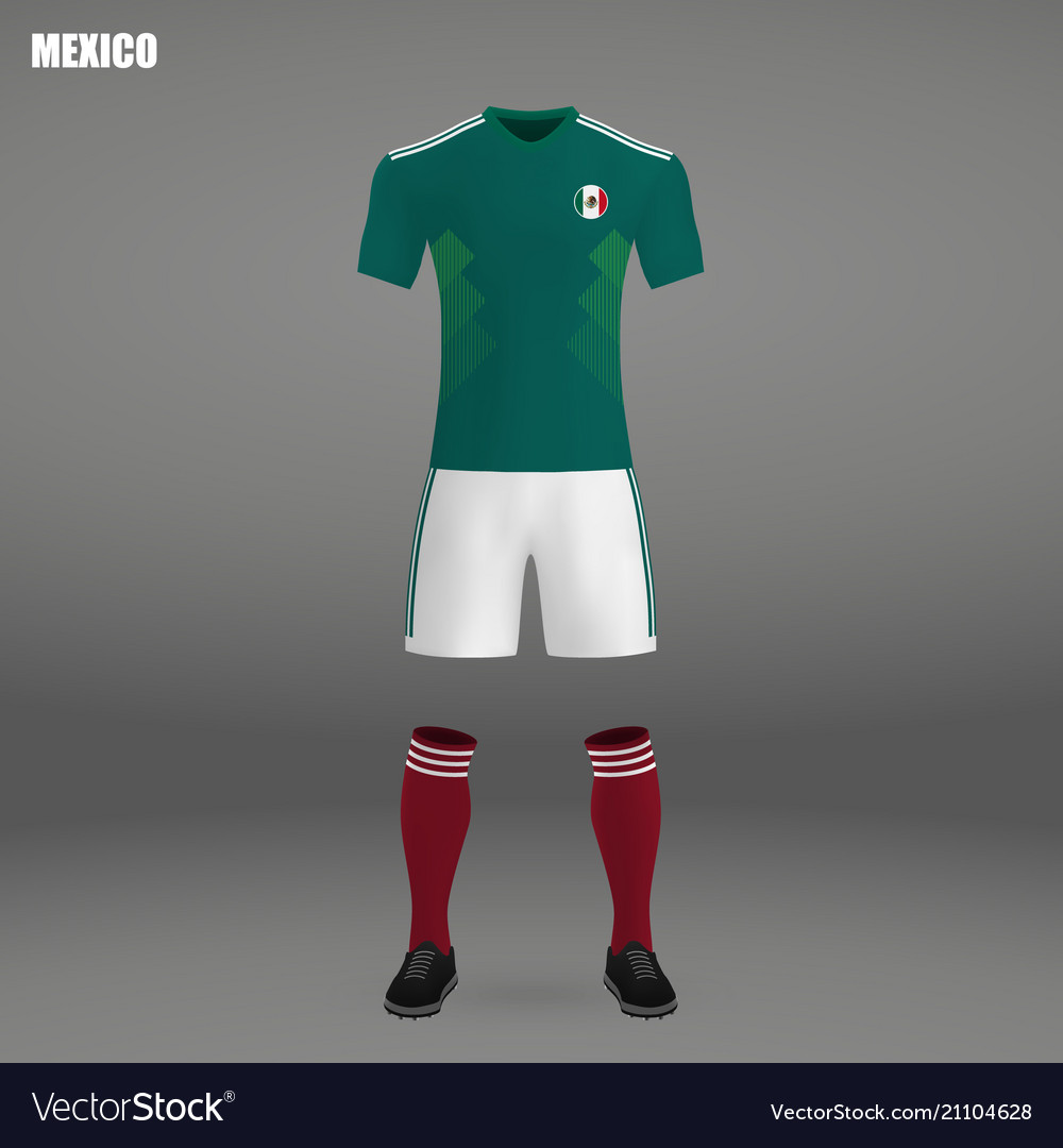 ab424e850f0 Football kit of mexico 2018 Royalty Free Vector Image
