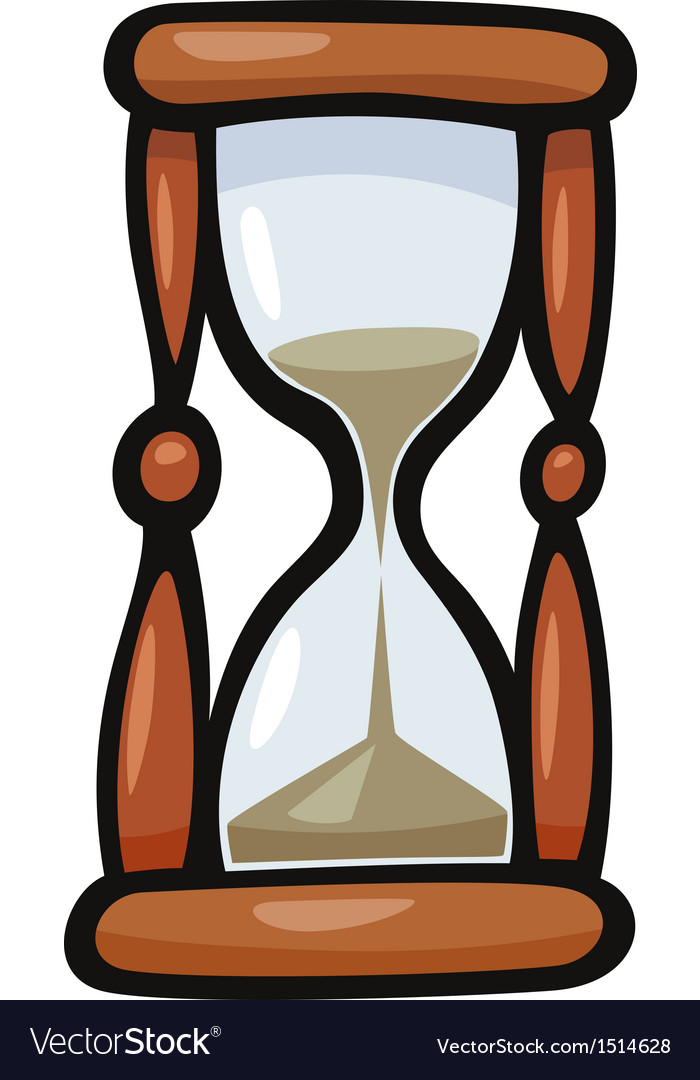 hourglass clip art cartoon royalty free vector image  vectorstock