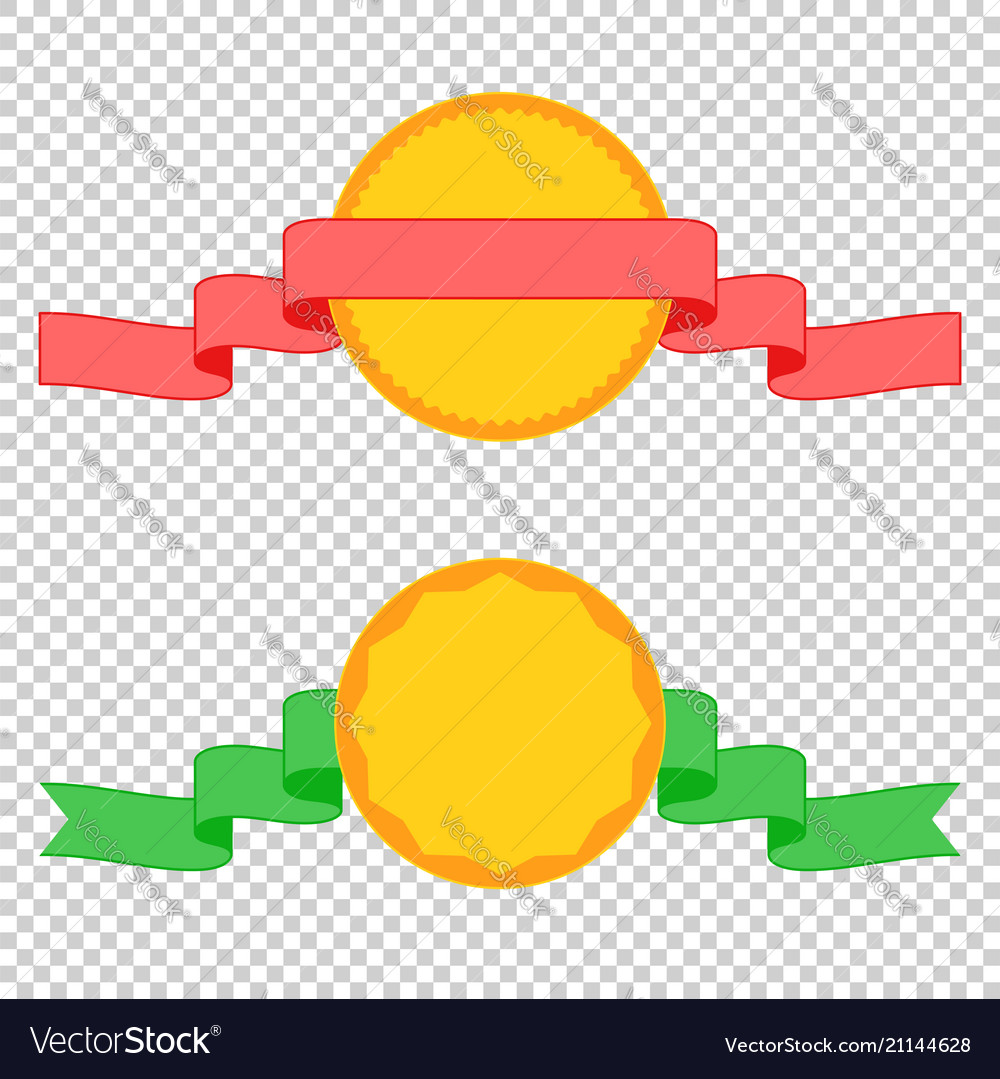 Set of colored insulated ribbons of banners and