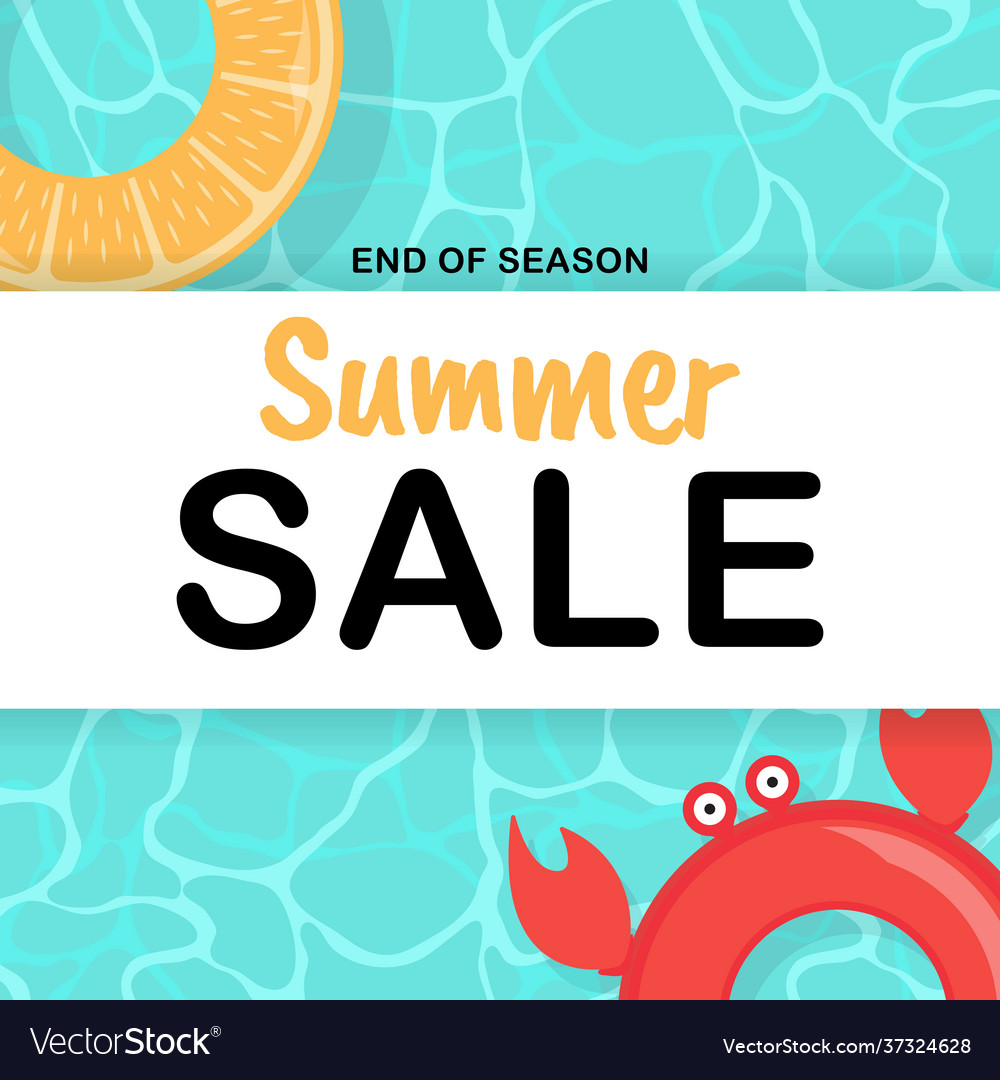 Summer sale background poster template