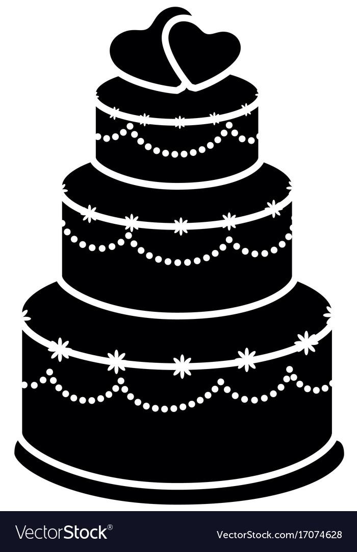 Wedding Cake Icon Royalty Free Vector Image Vectorstock