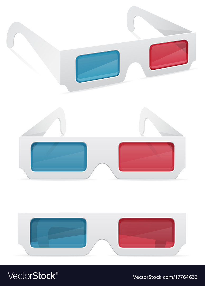 3d paper glasses stock