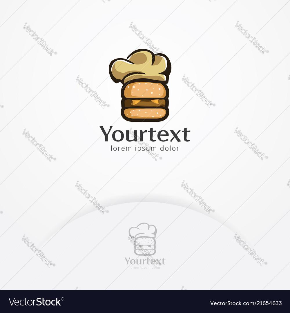 Burger chef logo design