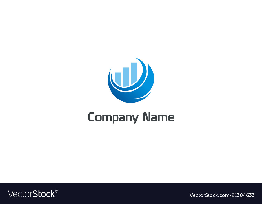 Chart business finance grow company logo