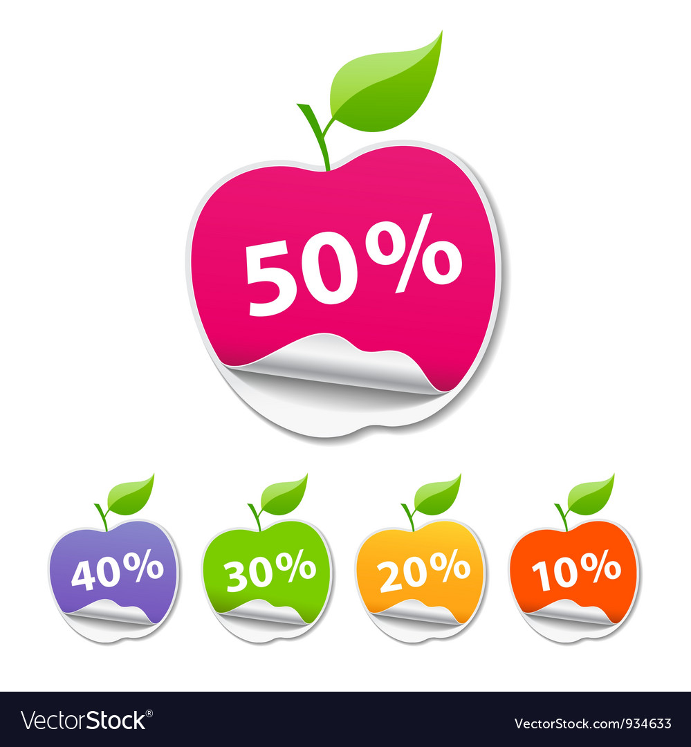 Collections Sticker apple sale price tag