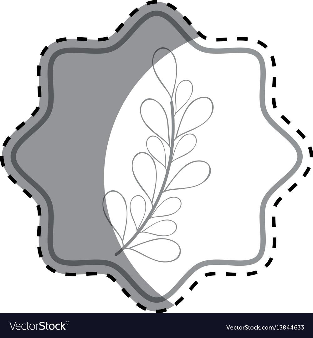 Emblem rustic branches plants decoration vector image