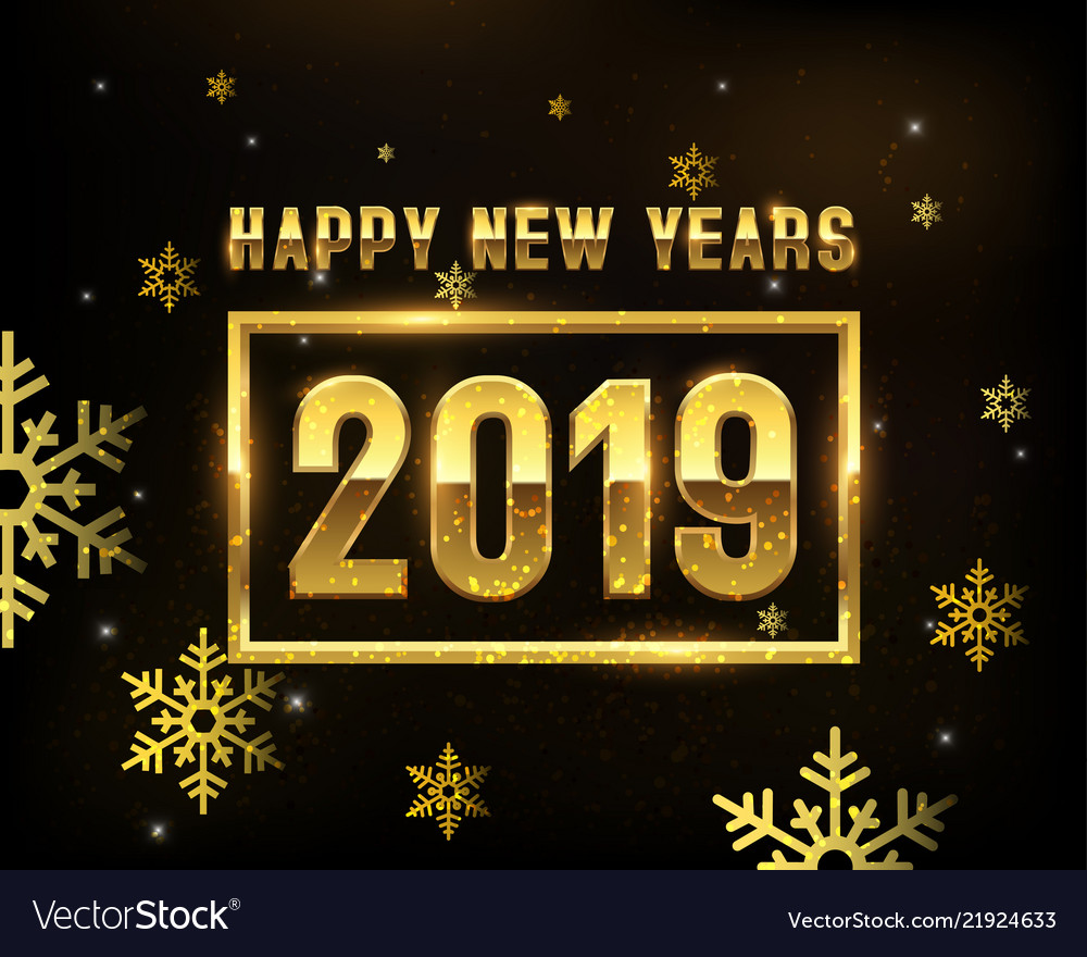 New year 2019 gold background templates