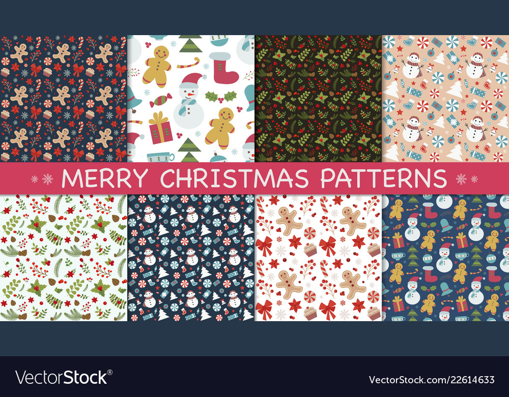 New year and christmas patterns